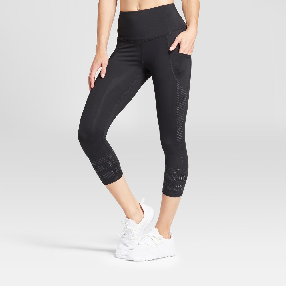 Women's Embrace Gel Printed Capri Leggings - C9 Champion Black XL