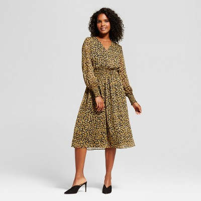 view Women's Smocked Waist Dress - Who What Wear on target.com. Opens in a new tab.