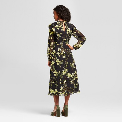 view Women's Flutter Shoulder Dress- Who What Wear on target.com. Opens in a new tab.