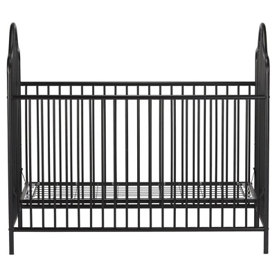 Little Seeds Rowan Valley Lanley Metal Crib And Changing Table Set   Black
