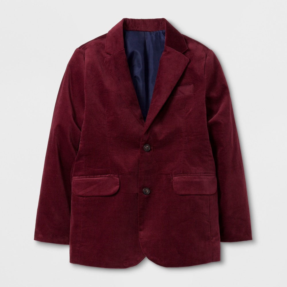 Boys Velveteen Jacket - Cat & Jack Cabernet Red 5