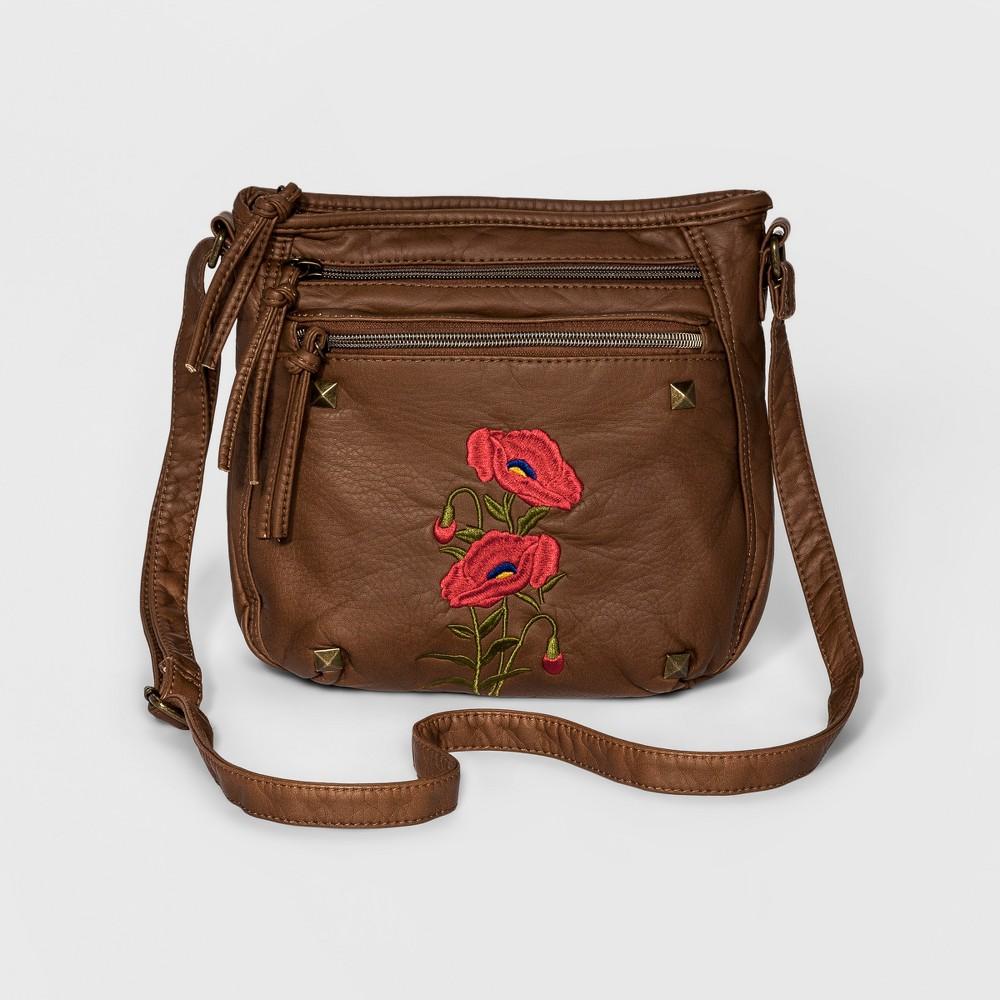 Womens Wall Flower Parrie Crossbody Handbag - Walnut (Brown)
