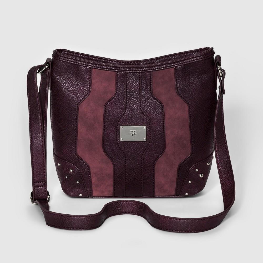 Womens Mac + Jac Celestina Crossbody Handbag - Burgundy (Red)