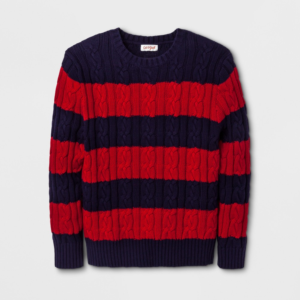 Boys Long Sleeve Pullover Sweater - Cat & Jack Stately Blue S