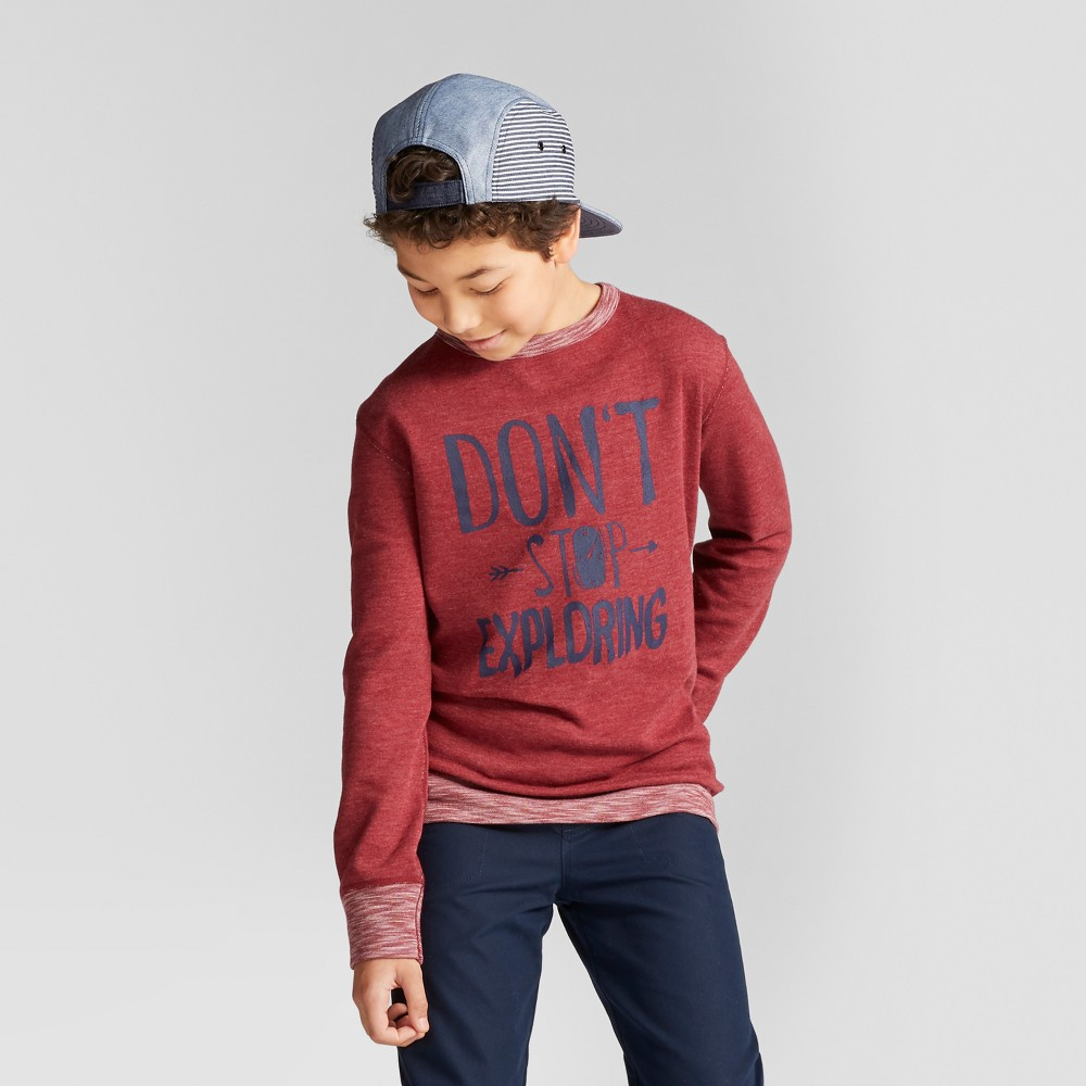 Boys T-Shirt - Cat & Jack Red Ribbon XS