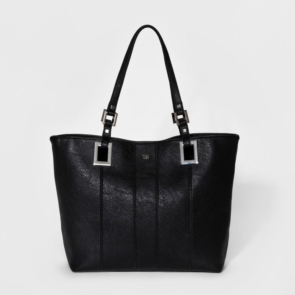 Womens Mac + Jac Madison Tote Handbag - Black