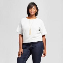 Women's Plus Size Novelty Pullover - Ava & Viv™ Heather Gray