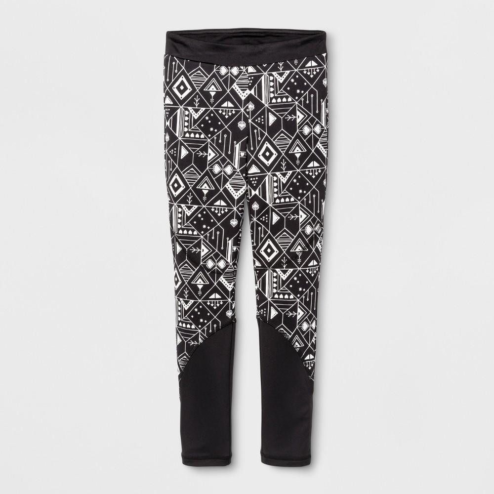 Girls Sporty Cozy Lined Leggings - Cat & Jack Black M