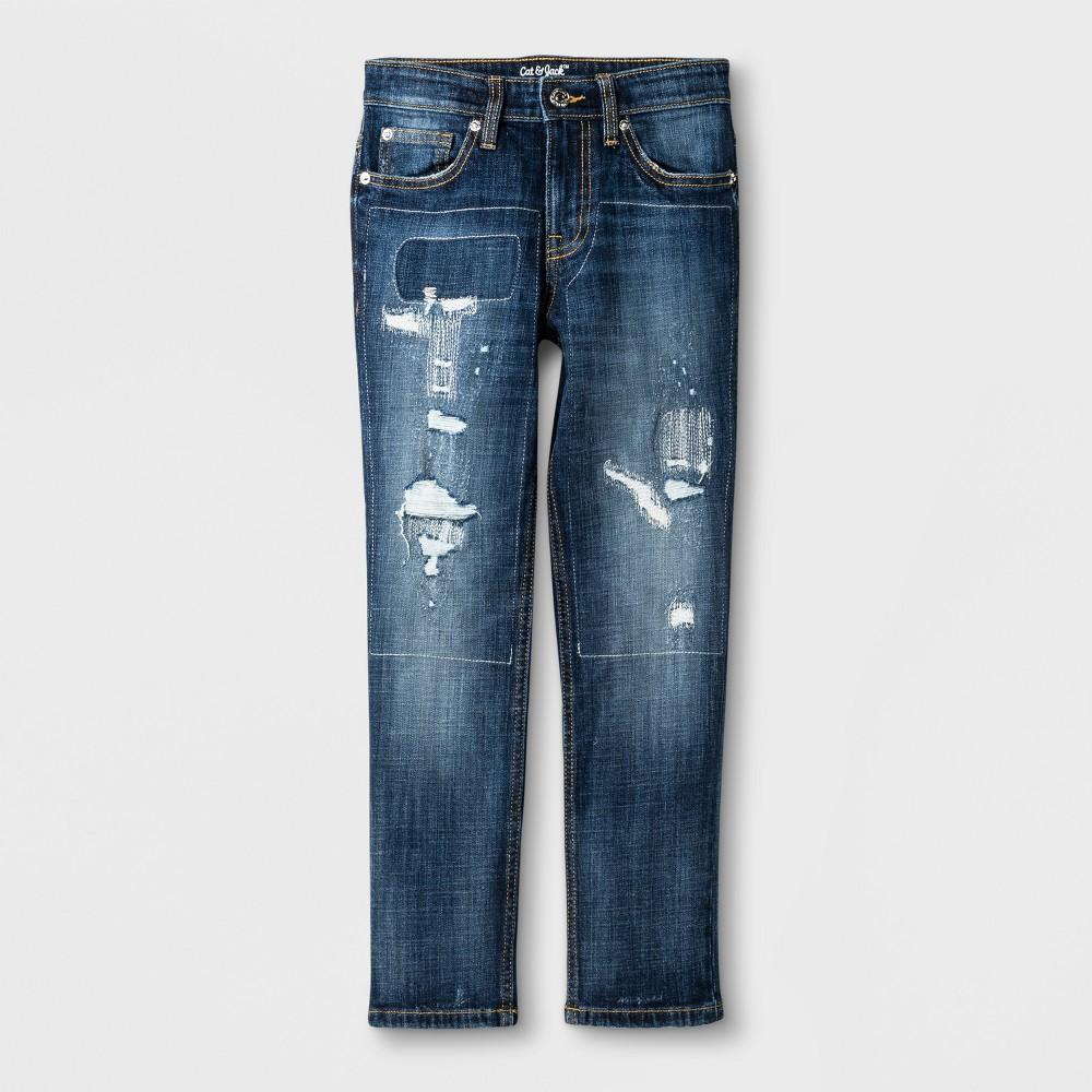 Boys Athleisure Taper Pants - Cat & Jack Dark Blue 6, Size: 10
