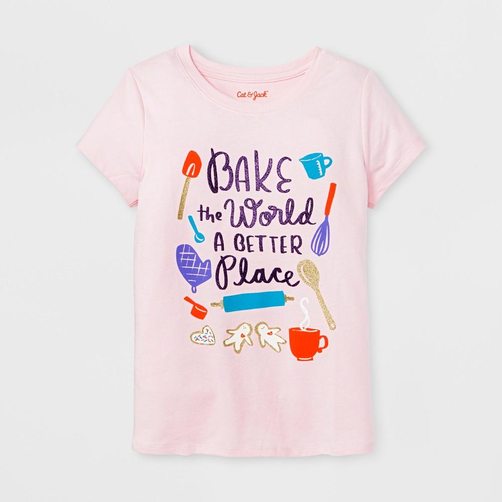 Girls Short Sleeve Baking Graphic T-Shirt - Cat & Jack Pink L