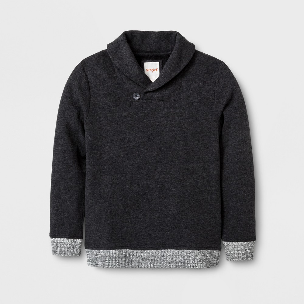 Boys Pullover Sweater - Cat & Jack Heather Black L