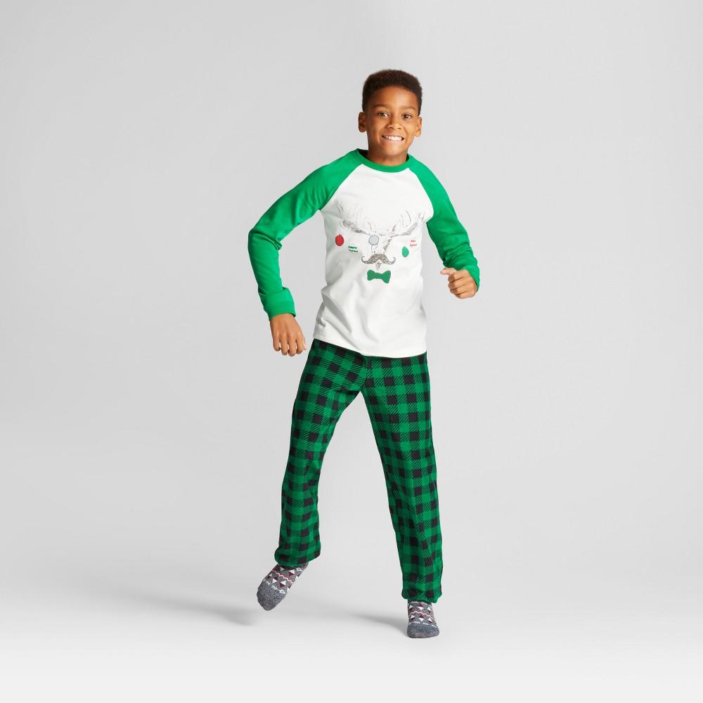 Boys 2pc Moose Pajama Set - Cat & Jack Splendid Green S