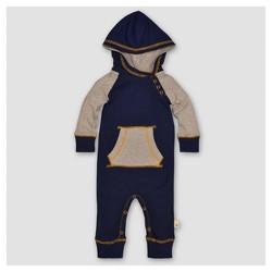 Burt's Bees Baby® Boys' Organic Colorblocked Raglan Coverall - Blue