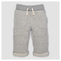 Burt's Bees Baby® Boy's Organic Loop Terry Rolled Cuff Pants - Heather Gray
