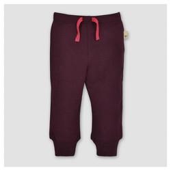 Burt's Bees Baby® Girls' Knit Jogger - Maroon