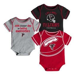 Atlanta Falcons Baby Boys' Awesome Fooball Fan 3pk Bodysuit Set