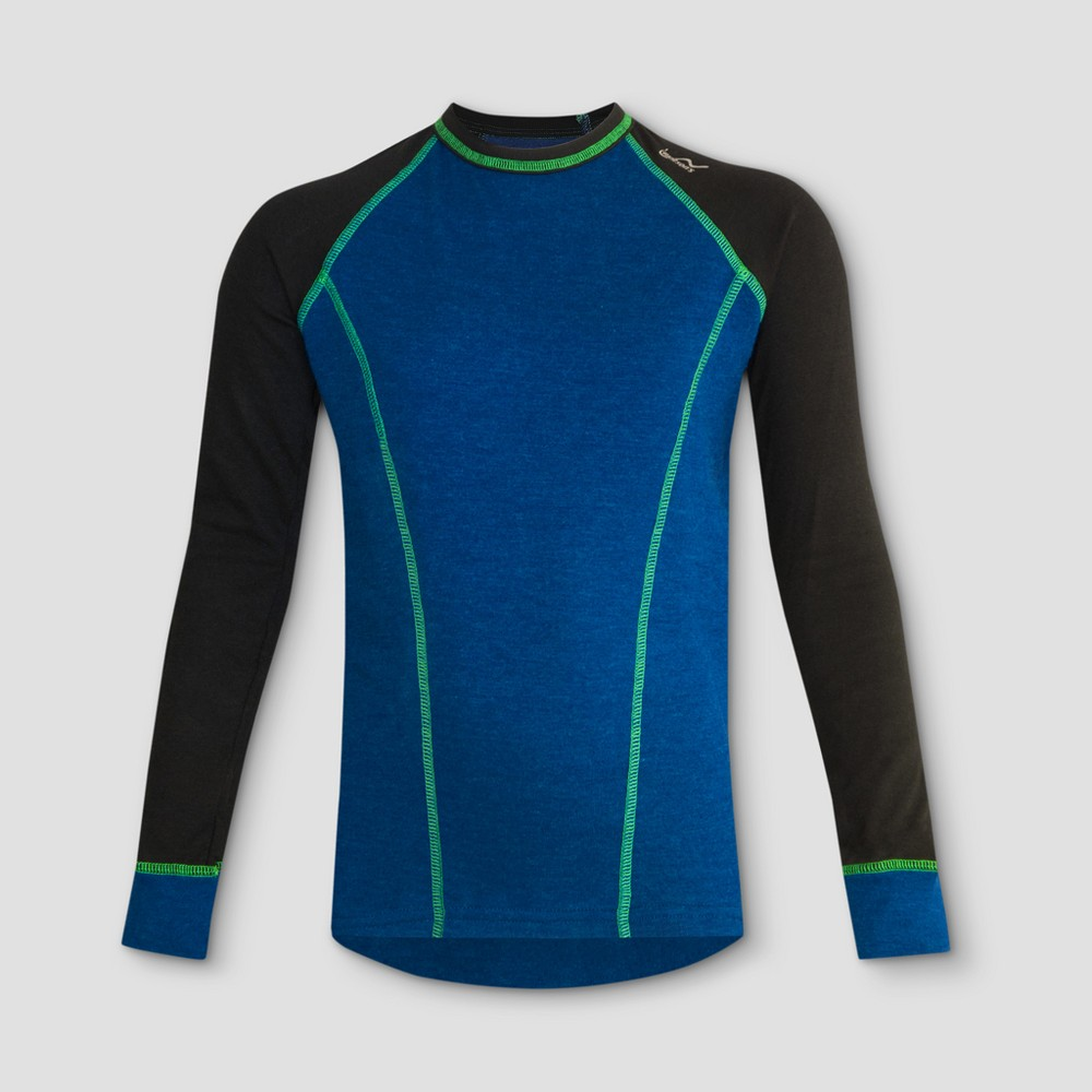Watsons Boys Thermal Underwear Shirt - Heather Blue S, Multicolored