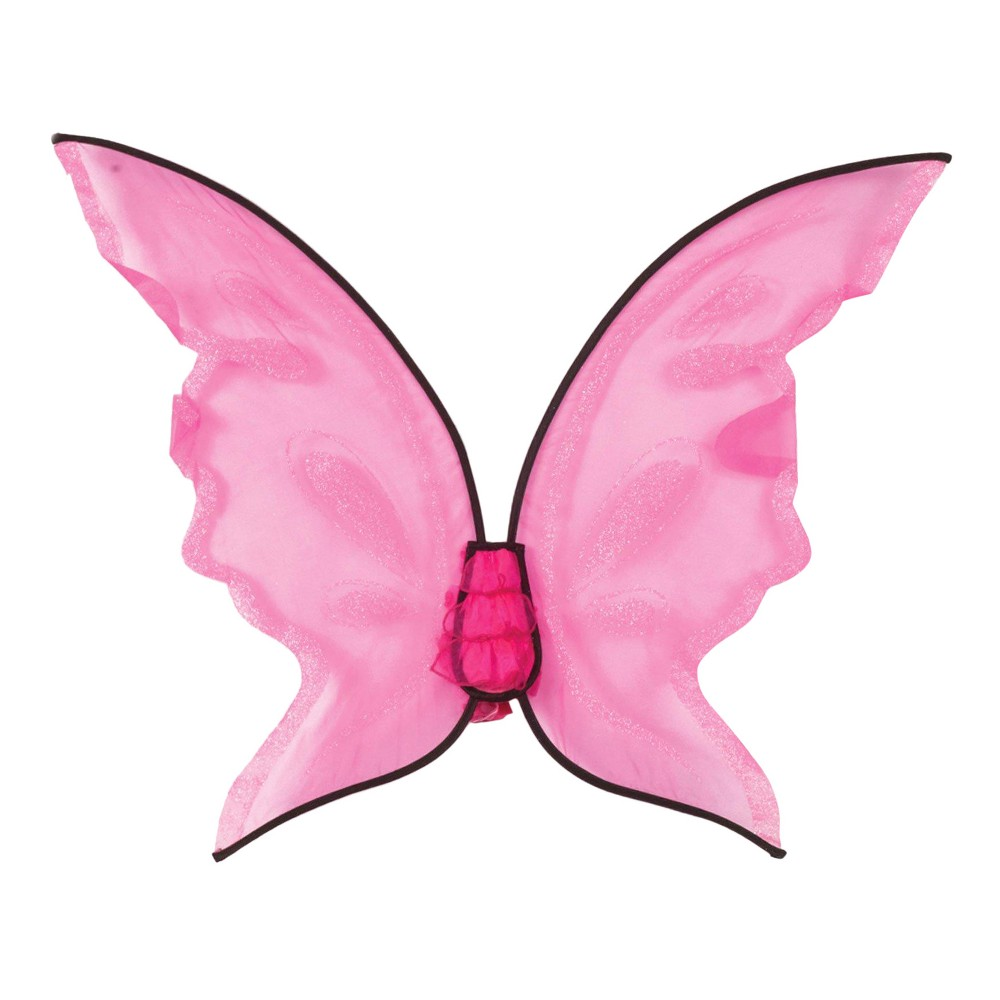 Hot Color Butterfly Wings - Pink, Womens