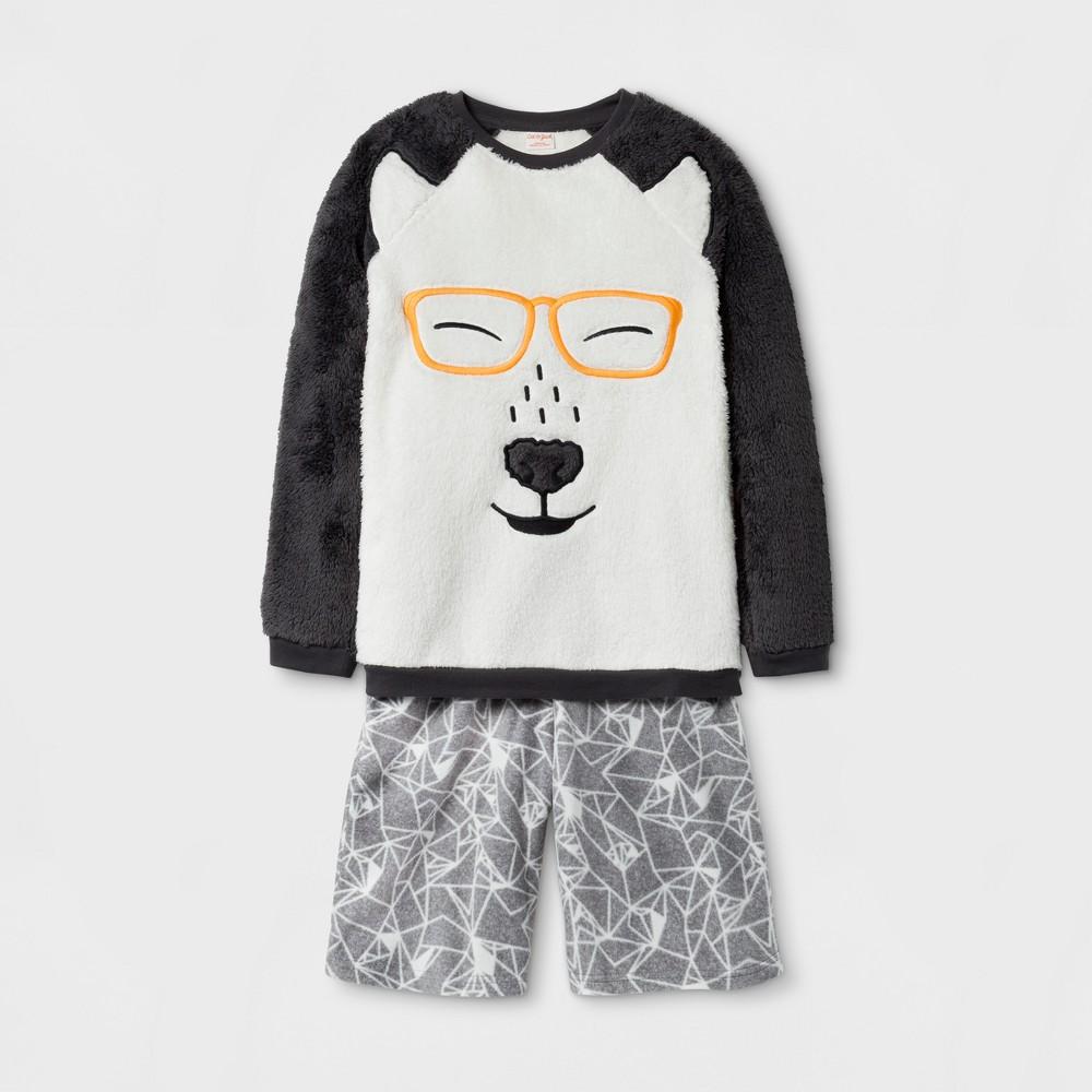 Boys 2pc Polar Bear With Glasses Pajama Set - Cat & Jack Almond Cream XS, White