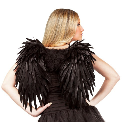 Angelic Feather Adult Wings - Black - image 1 of 1