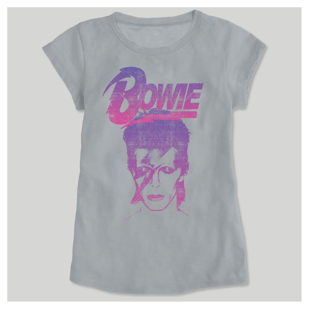Toddler Girls Bowie Short Sleeve T-Shirt - Pewter 4T, Silver