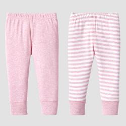 Lamaze Baby Girls' Organic 2pc Pants Set - Pink