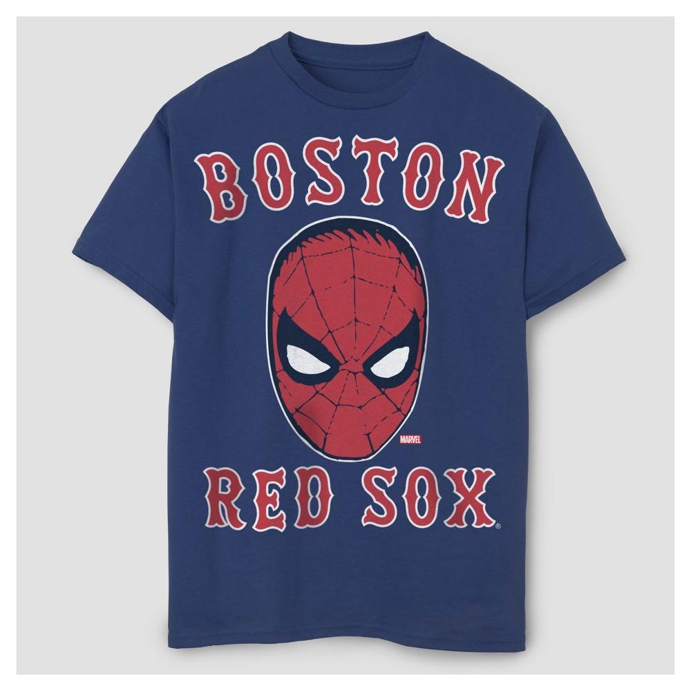 Boys Spider-Man Major League Baseball T-Shirt - Navy L, Blue