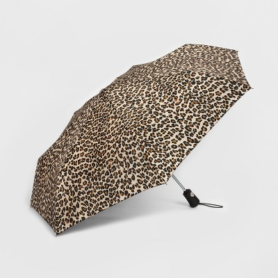 Totes® Compact Umbrella With NeverWet Technology - Black/Beige