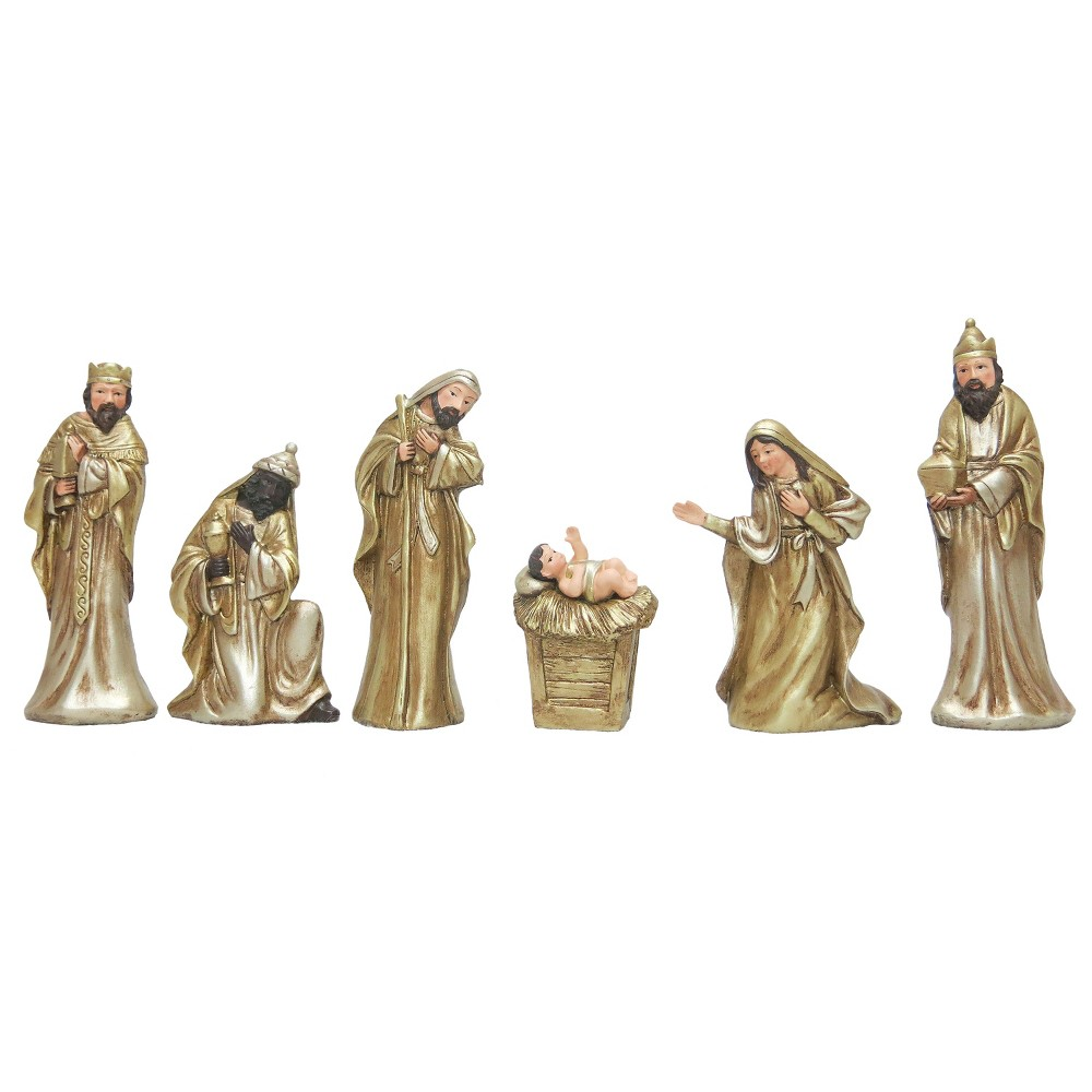 Nativity Set Gold 6ct - Wondershop, Light Gold