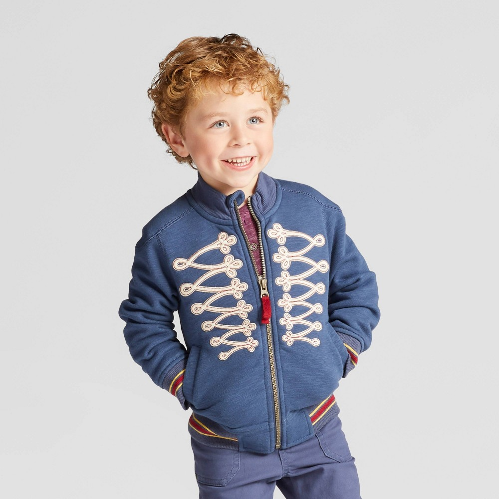 Toddler Boys Zip-Up Marching Band Sweatshirt - Genuine Kids from OshKosh Blue 4T