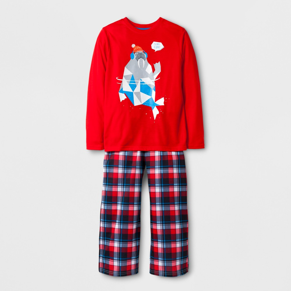 Boys Stay Cool Walrus Pajama Set - Cat & Jack Red XL