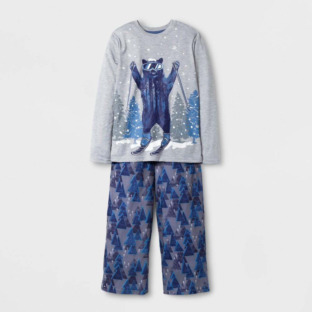 Boys Skiing Bear Pajama Set - Cat & Jack Heather Gray Bear L