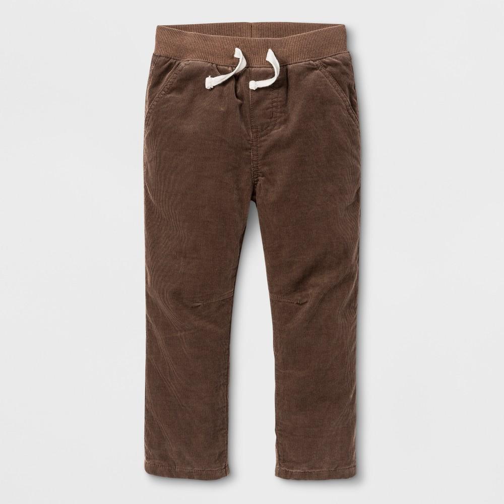 Toddler Boys Jogger Pants - Cat & Jack Brown Suede 3T