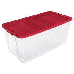 Sterilite® utility bins, bags and totes Rocket Red