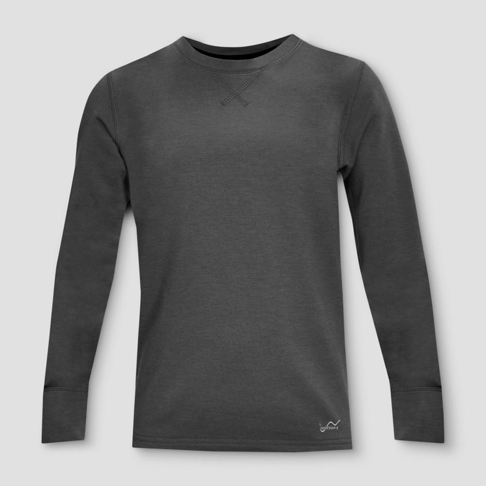 Watsons Boys Thermal Underwear Shirt - Charcoal XS, Black