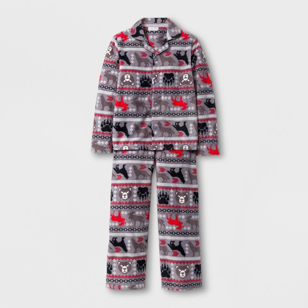 Komar Kids Boys Pajama Set - Gray L, Size: Small