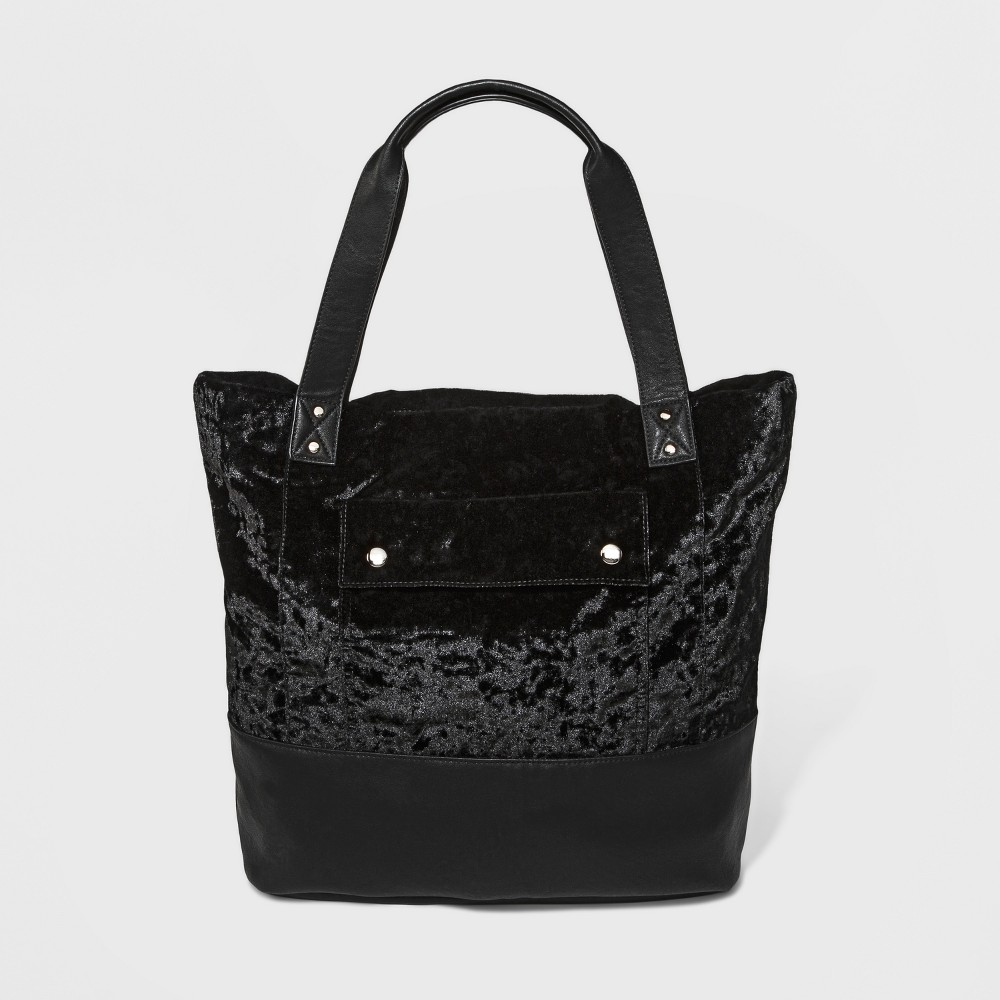 Womens Crushed Velvet Tote - Mossimo Supply Co. Black