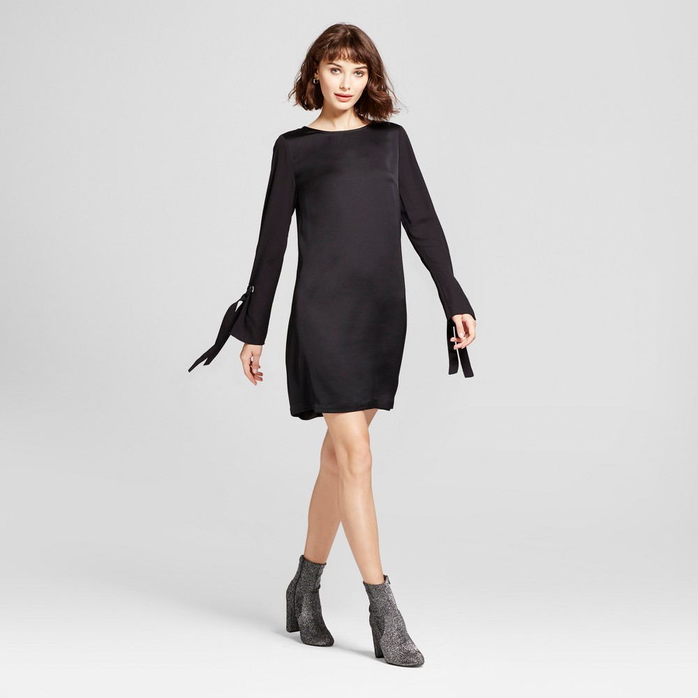 Womens Easy Waist with Eyelet Detail Dress - Mossimo Black XS