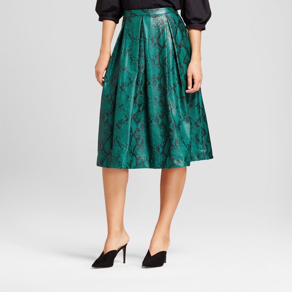 Womens Birdcage Skirt - Who What Wear Green 6