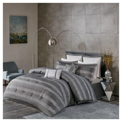 Gray Porter Comforter Set (King)8pc