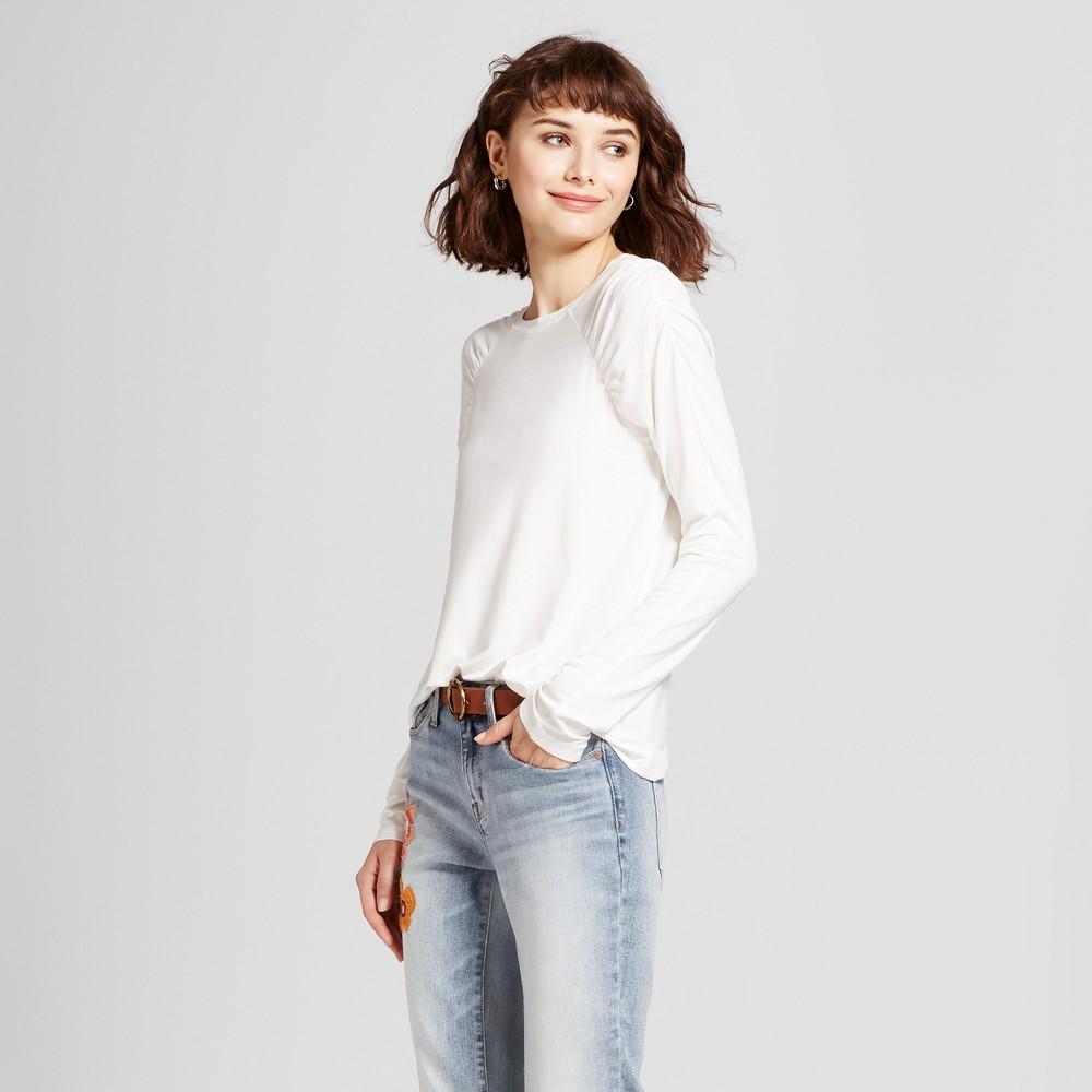 Womens Long Sleeve T-Shirt - Mossimo White M