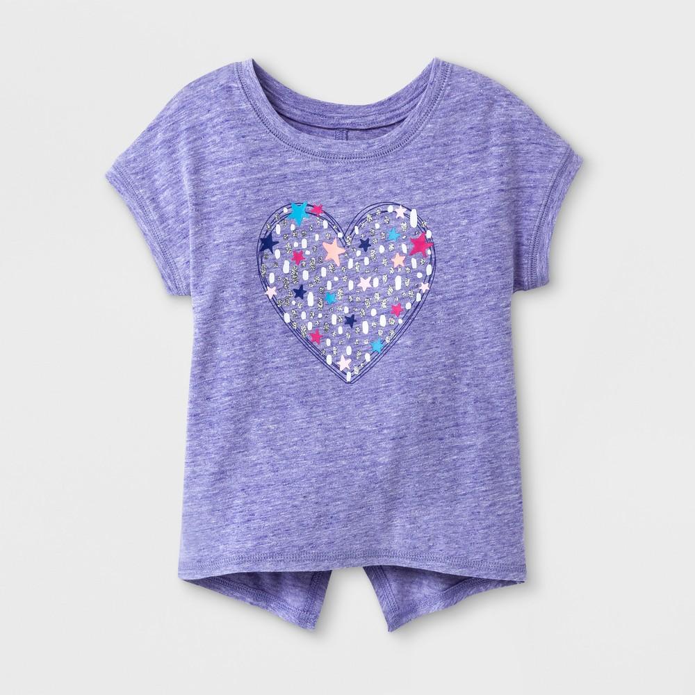 Toddler Girls Heart Short Sleeve T-Shirt - Cat & Jack Verily Iris 12M, Size: 12 M, Purple