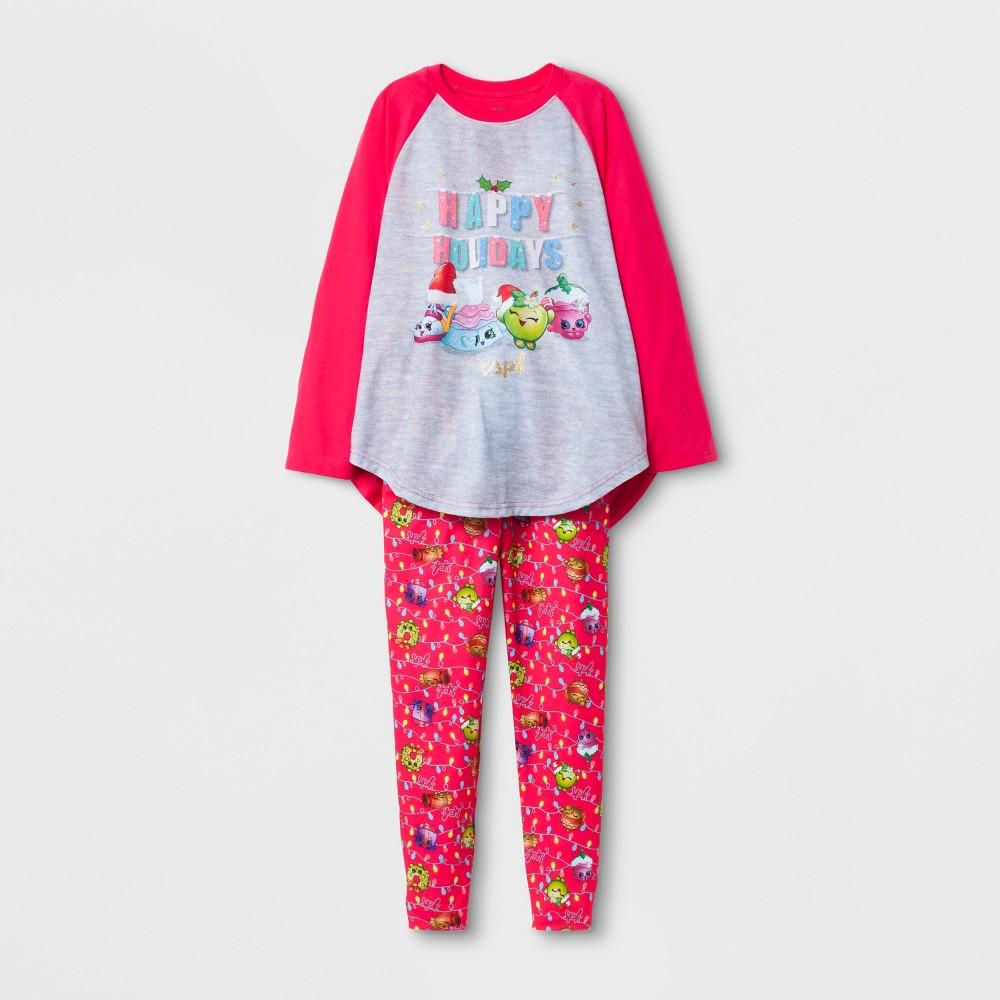 Girls Pajama Set - Shopkins Gray 8, Multicolored