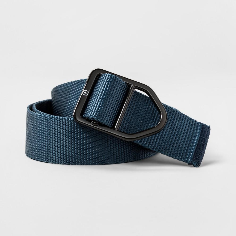 Men's Swiss Gear Buckle Nylon Belt - Navy XL, Blue