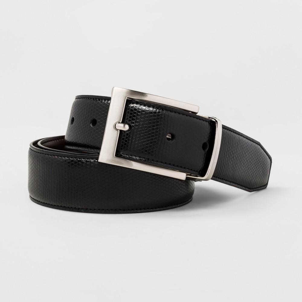 Men's Swiss Gear Snake Skin Reversible Belt - Black/Brown...