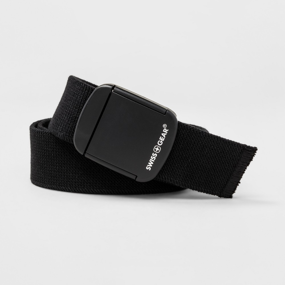 Mens Swiss Gear Stretch Non Metallic Clip Buckle Belt - Black L
