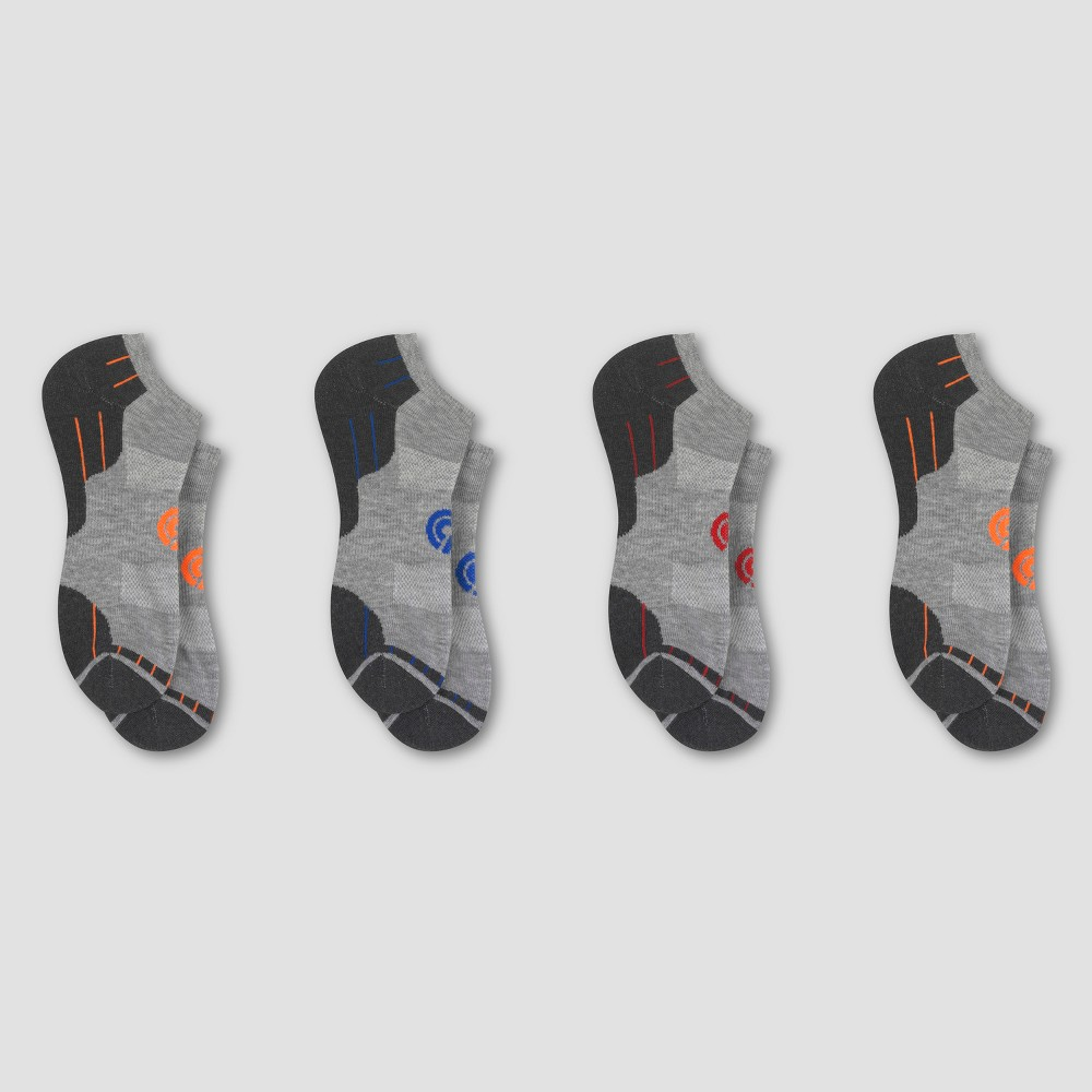 Mens Training No Show Sock With Ventilation 3pk - C9 Champion - Gray 6-12