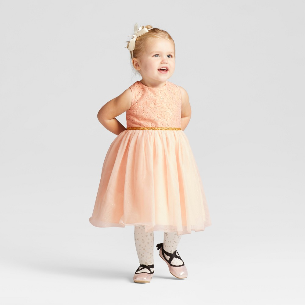 Toddler Girls Mia & Mimi Blush Ballerina - Gold 12M, Size: 12 M
