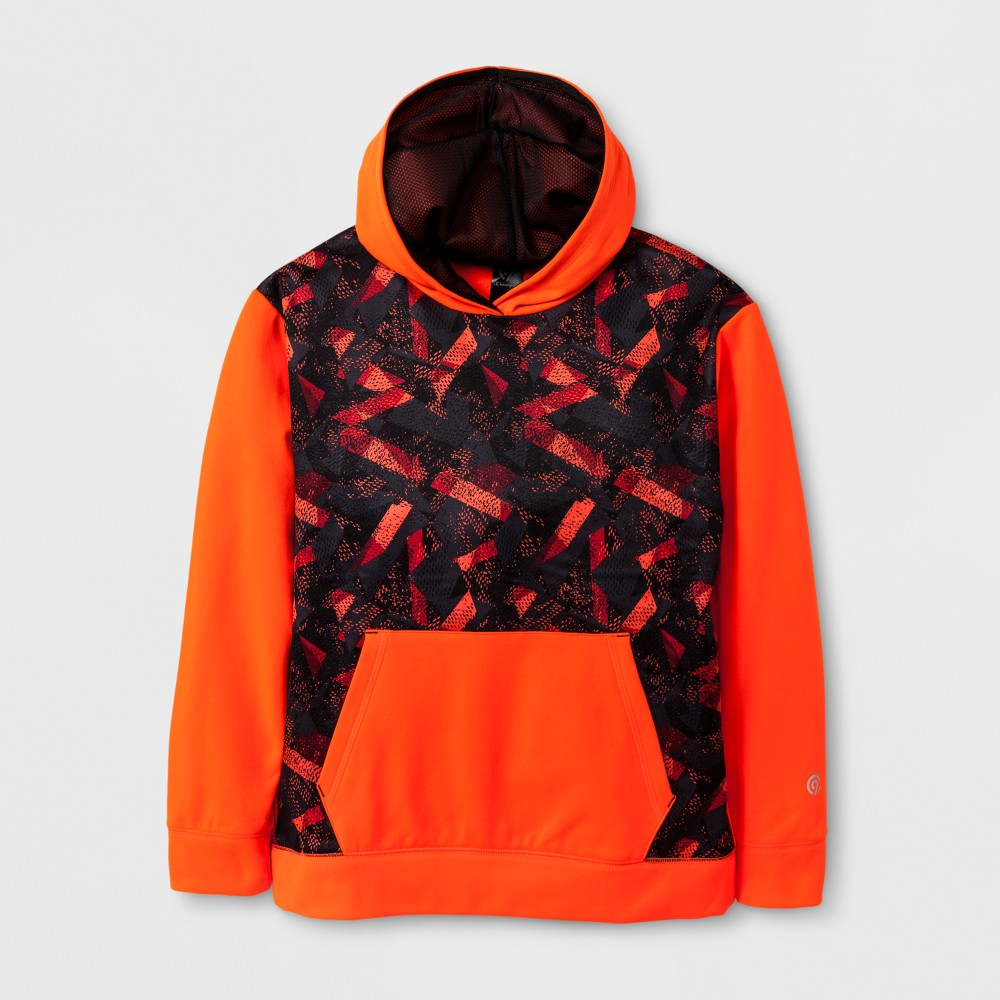Boys' Printed Tech Fleece Pullover - C9 Champion - Orange Camo XL