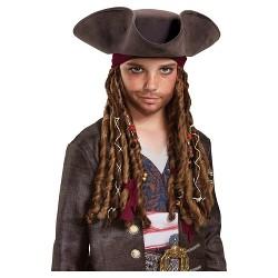 Pirates of the Caribbean 5: Captain Jack Hat Bandana & Dreads